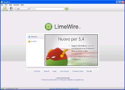 Interfaccia LimeWire Basic