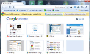 Interfaccia Chrome