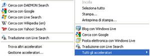 Acceleratori Internet Explorer