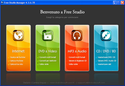 Interfaccia Free Studio