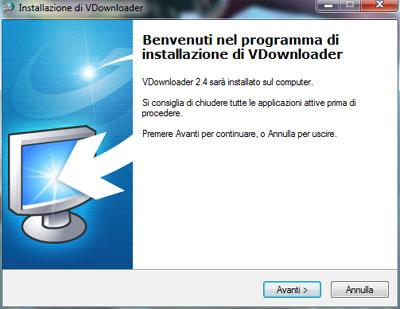 Installazione VDownloader