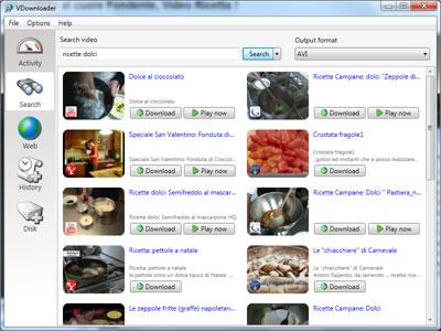 Sezione di ricerca video