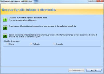 Revo Unistaller Pro - Primo passaggio rimozione software