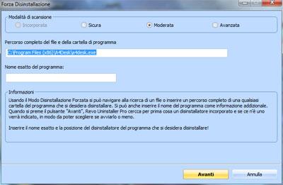 Revo Unistaller Pro - Rimozione forzata software