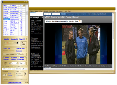 Esempio di canale visualizzato in TV Player Classic