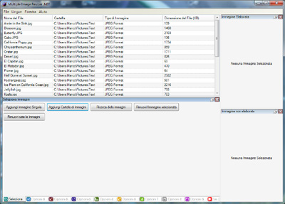 Elenco file selezionati - Multiple Image Resizer .NET