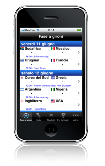 Interfaccia Italia 2010