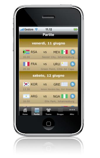 Interfaccia ZA2010 Sud Africa