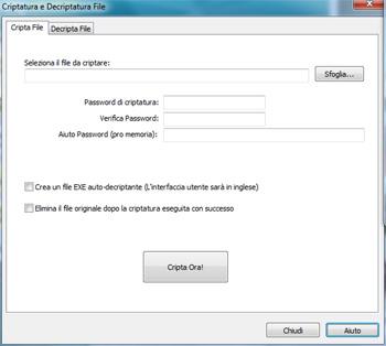 Glary Utilities: Cifratura file