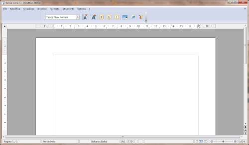 Interfaccia utente modulo Writer - OOo4Kids