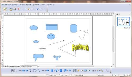 Interfaccia utente modulo Draw - OOo4Kids
