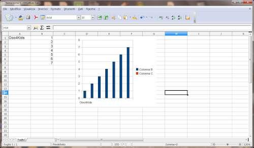 Interfaccia utente modulo Calc - OOo4Kids