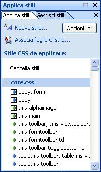 Microsoft SharePoint Designer 2007 - Esempio gestione stili
