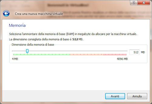 Allocazione memoria RAM virtuale