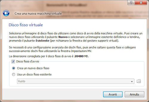 Definizione disco fisso virtuale