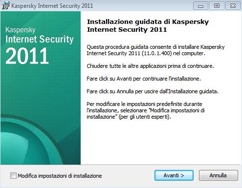 Installazione Kaspersky Internet Security 2011