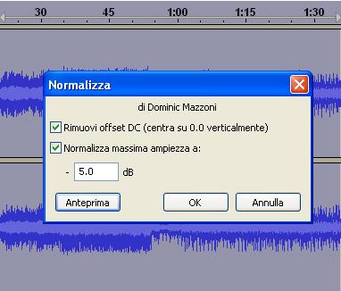 Esempio di normalizzazione audio
