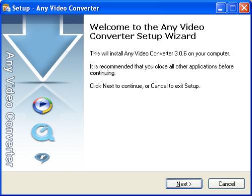 Installazione Any Video Converter