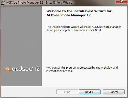 Installazione ACDSee Photo Manager