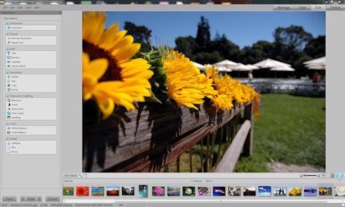 ACDSee Photo Manager: Interfaccia utente - Sezione Edit