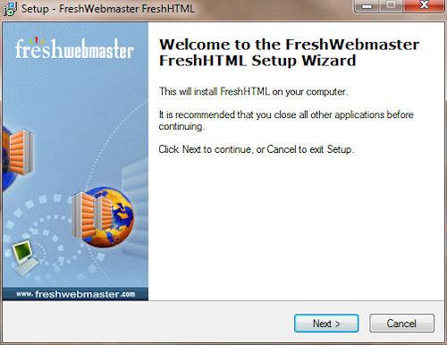 Fresh HTML: Installazione