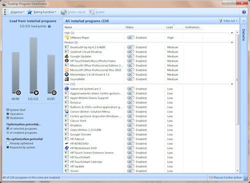 TuneUP Utilities 2011: Utilità per la chiusura dei programmi