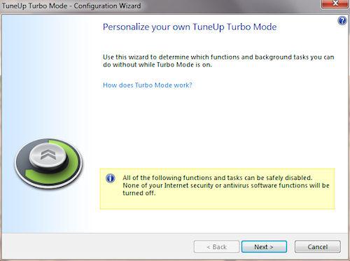 TuneUP Utilities 2011: Proceduta guidata modalità turbo