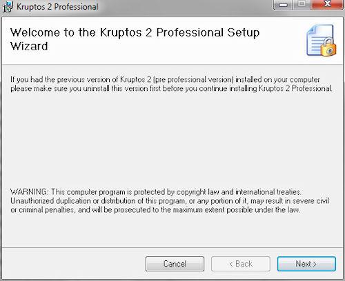 Kruptos 2 Professional: Installazione