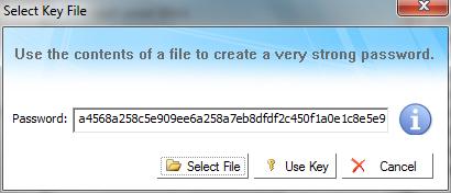Kruptos 2 Professional: Selezione file chiave