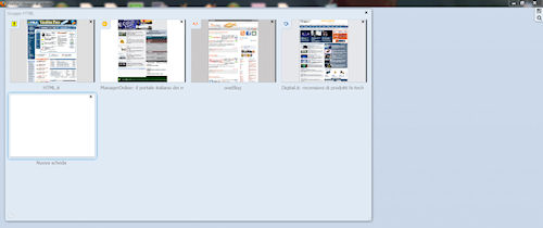 Firefox 4: Esempio di raggruppamento schede