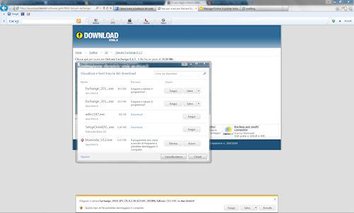 Internet Explorer 9: Esempio di notifica e Download Manager
