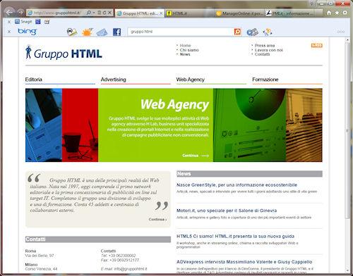 Internet Explorer 9 in azione