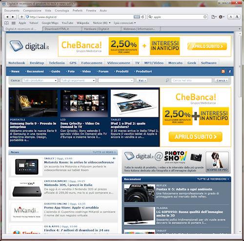 Interfaccia Safari 5