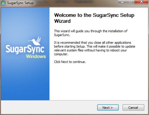SugarSync: Installazione