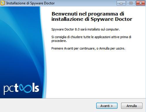 Spyware Doctor 2011: Installazione