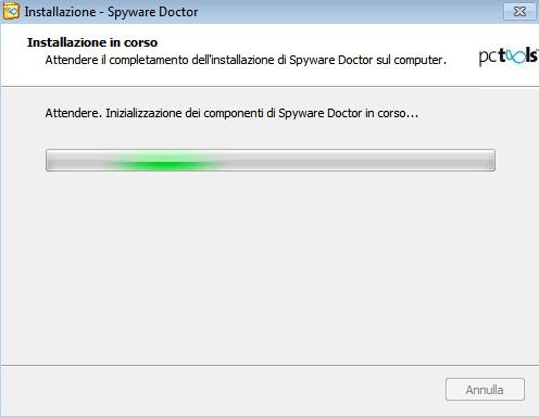 Spyware Doctor 2011: Attivazione componenti