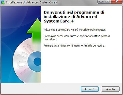 Advanced System Care 4: Installazione