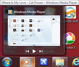Windows Media Player 12: Integrazione barra delle applicazioni
