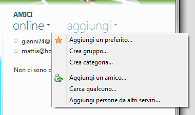 Windows Live Essentials 2011: Menu inserimento nuovi elementi