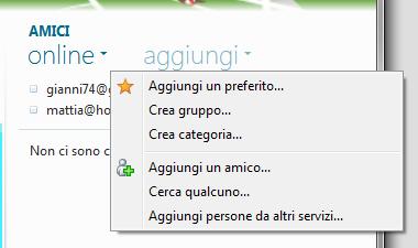 Windows Live Essentials 2011: Menu inserimento nuovi elementi