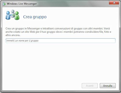 Windows Live Essentials 2011: Creazione di un gruppo di contatti