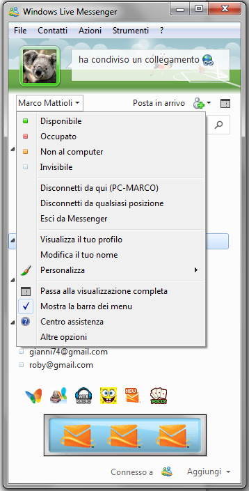 Windows Live Essentials 2011: Finestra modalità compatta