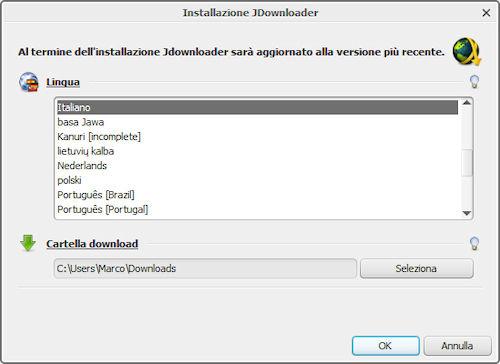 JDownloader: Installazione