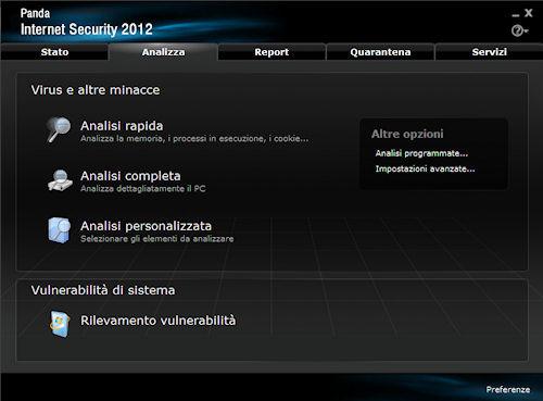 Panda Internet Security 2012: Scheda di analisi virus e minacce in genere