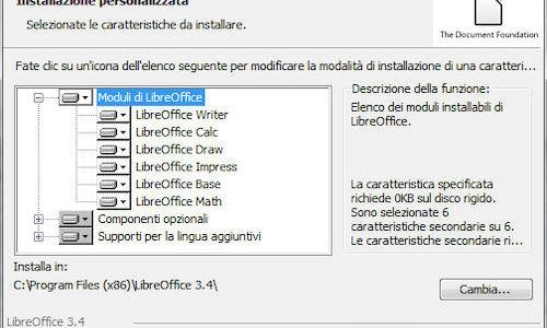 Installazione LibreOffice