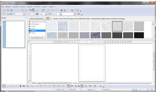 LibreOffice: Finestra principale modulo Draw
