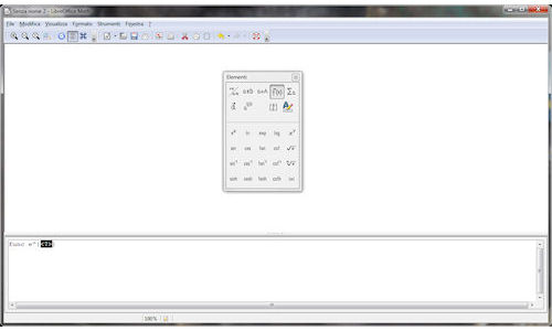 LibreOffice: Interfaccia utente Math