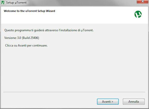 Installazione uTorrent 3.0