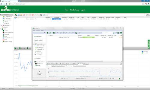 uTorrent 3.0: Esempio di interfacce locale e remota