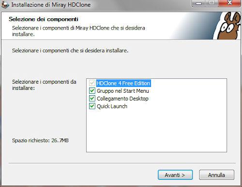 HDClone: Installazione